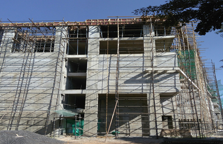 Construction of Hostel Building for National Center for Biological Sciences at GKVK Campus, Bangalore.