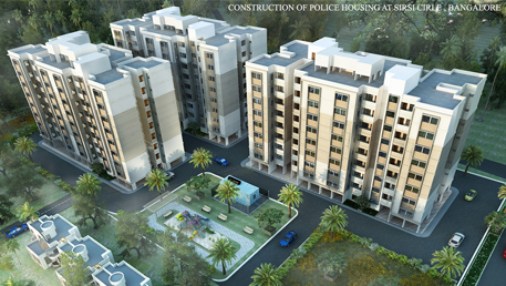 CONSTRUCTION OF PC AND SI QUARTERS AT SIRSI CIRCLE, MYSORE ROAD, BANGALORE UNDER POLICE GRUHA 2020 SCHEME ON LUMP SUM TURNKEY BASIS, BASED ON TENDERERS OWN DESIGN