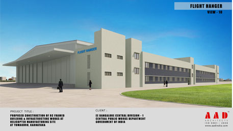 Construction of New Helicopter Manufacturing facility including allied services (phase –I) for Hindustan Aeronautics Limited (HAL)